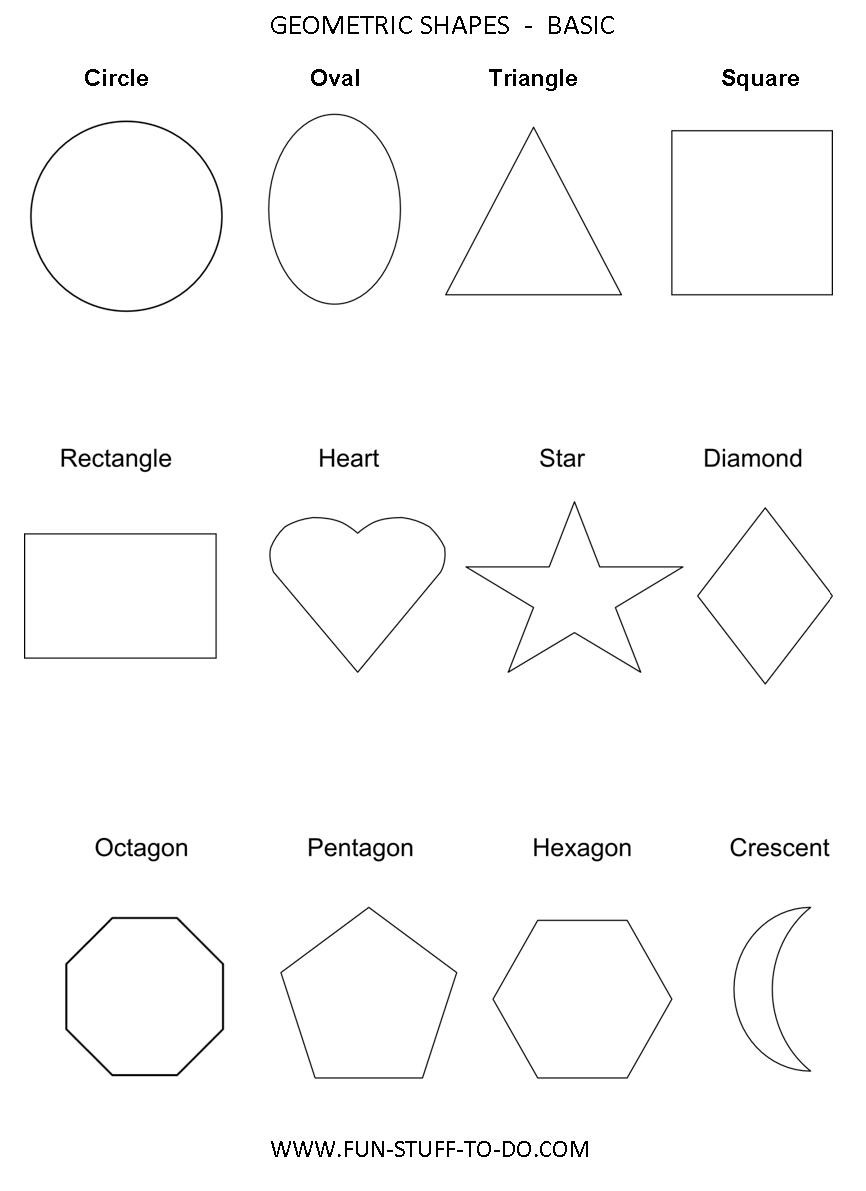 2d Shapes Worksheet Kindergarten
