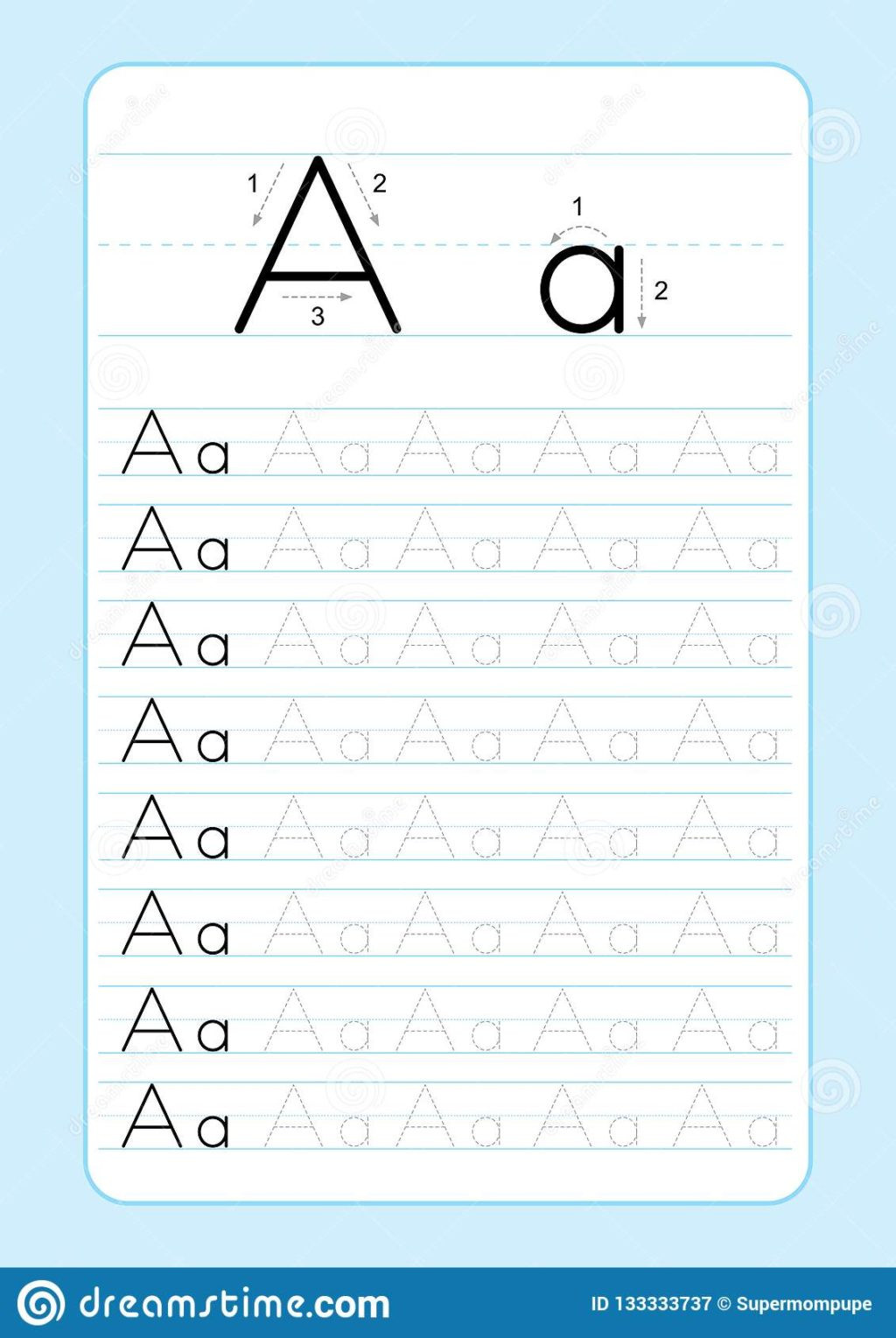 Abc Tracing Worksheets for Kindergarten