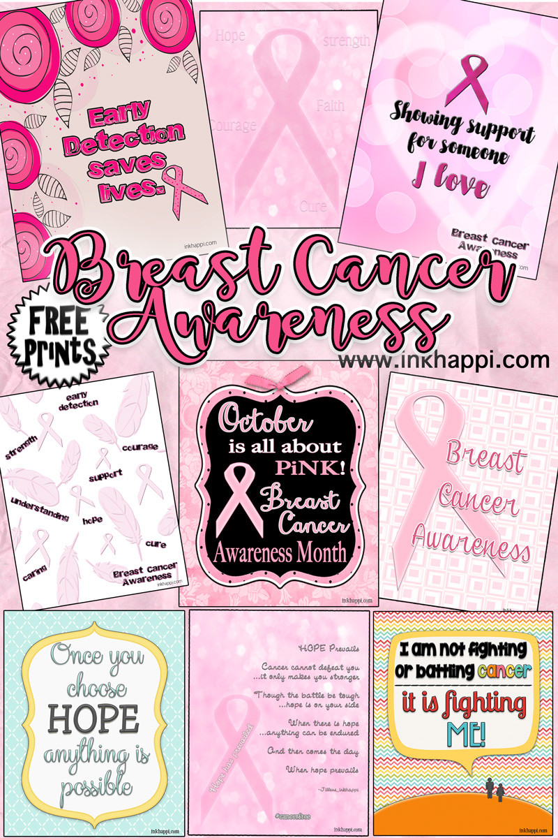 Breast Cancer Awareness Printables & More inkhappi