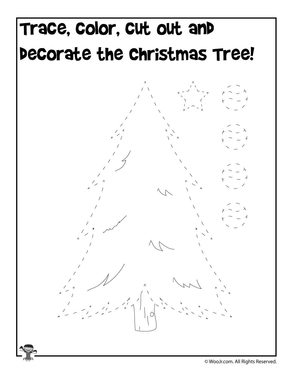 Christmas Tree Worksheet Printable