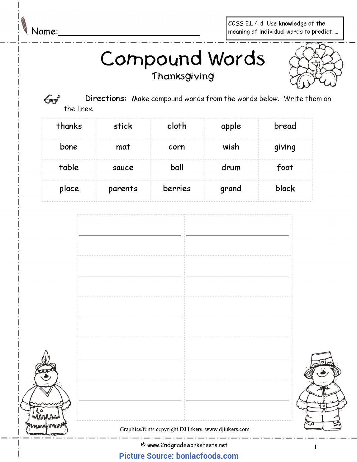 Compound Words Worksheets Kindergarten