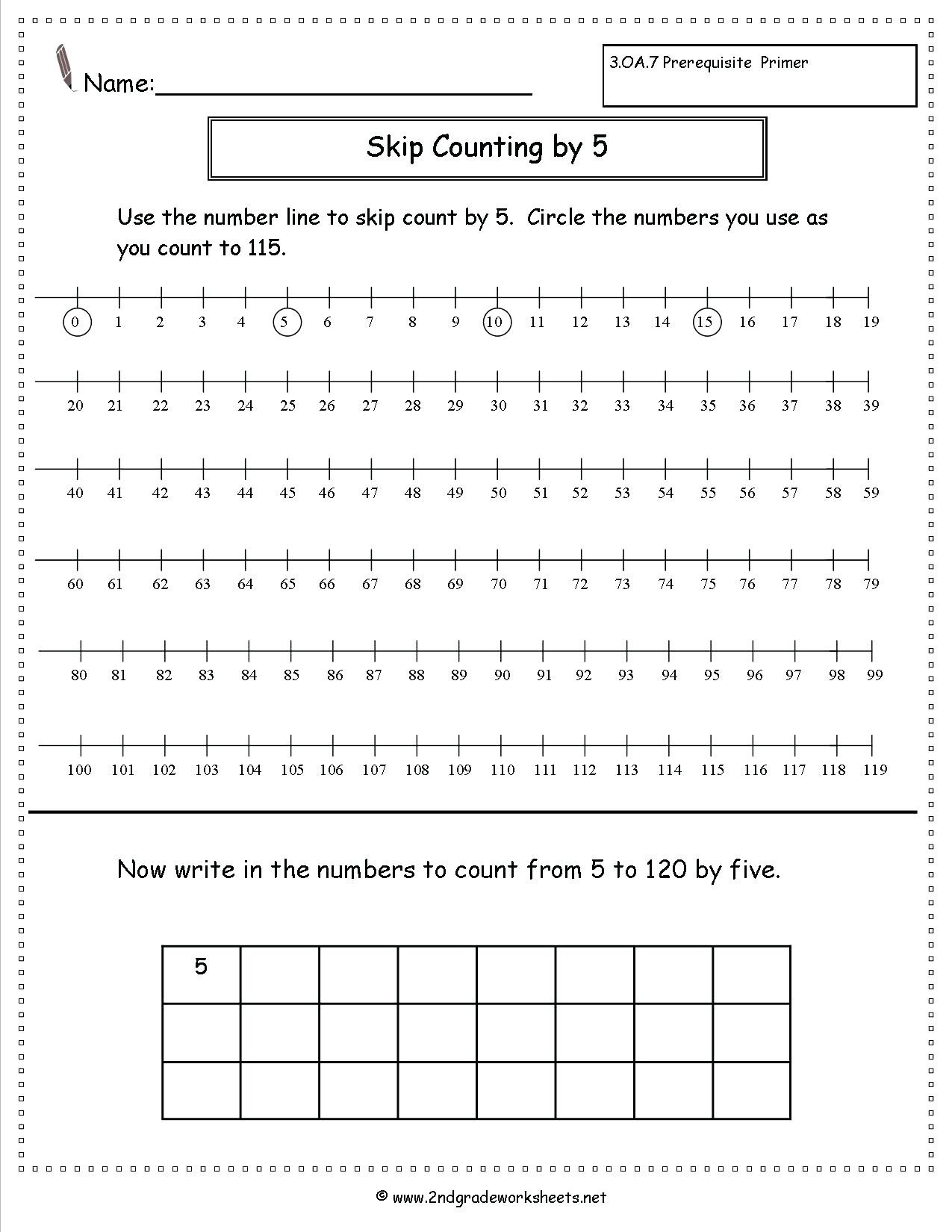 Count to 100 Worksheets Kindergarten
