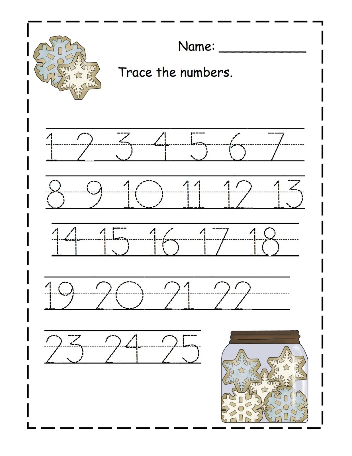 Count to 100 Worksheets Printable