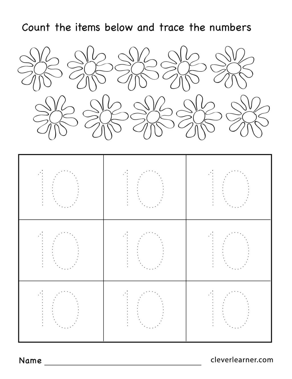 Counting Worksheets for Kindergarten Free