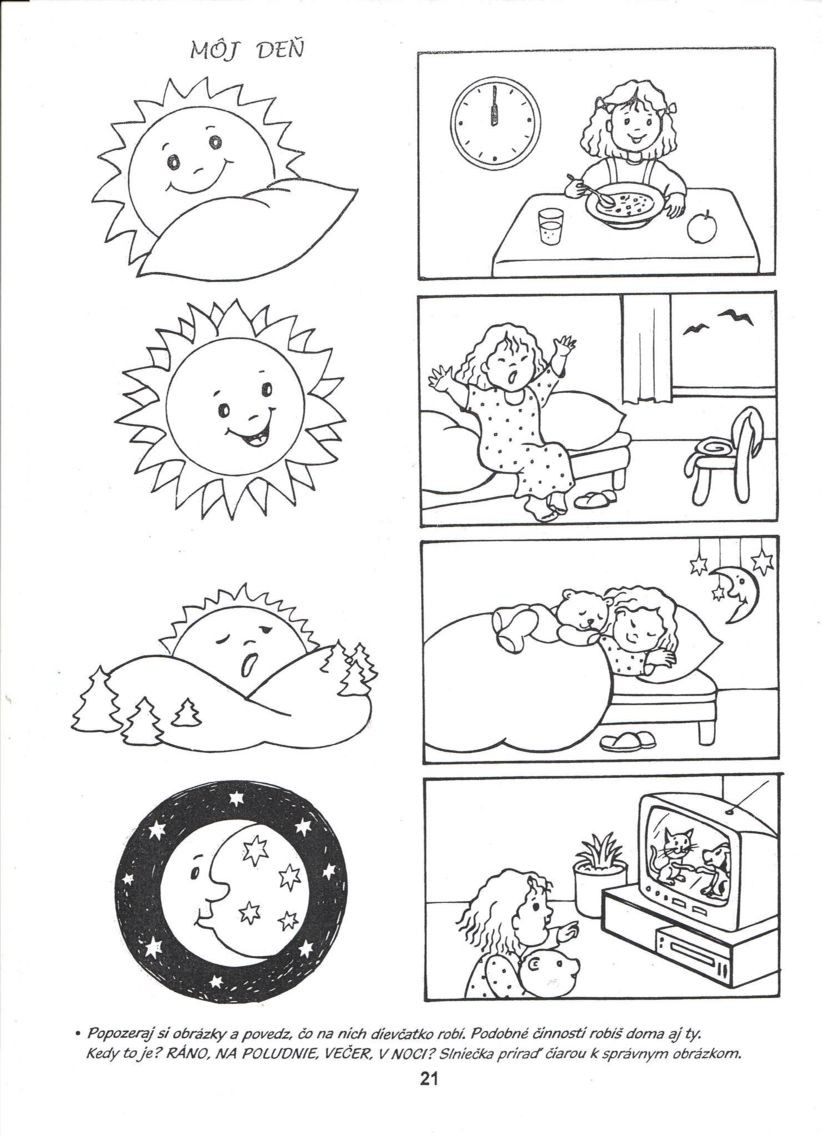 Day and Night Printable Worksheets
