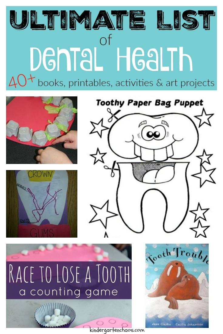 Dental Health Worksheets for Kindergarten