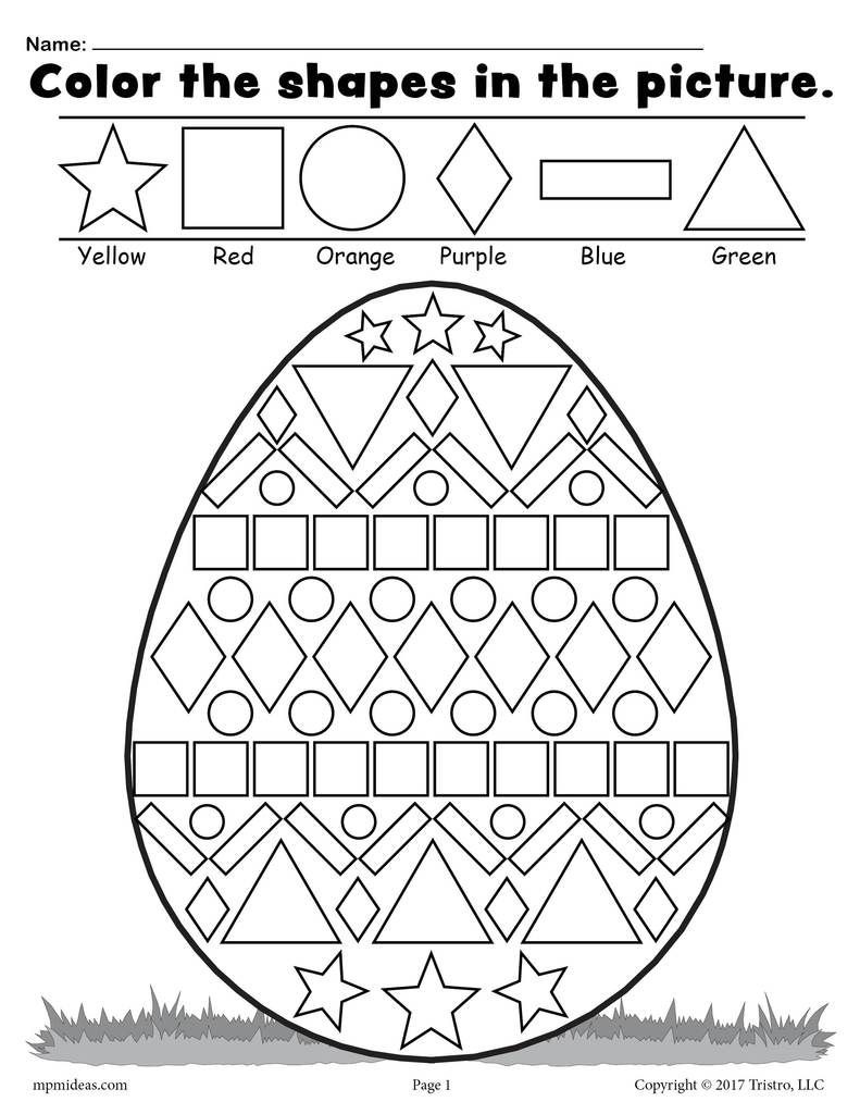Easter Math Worksheets Kindergarten