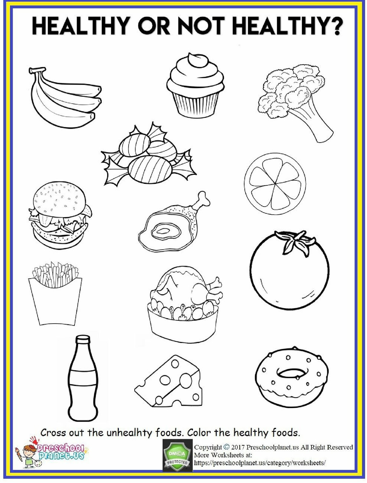 Food Pyramid Printable Worksheets