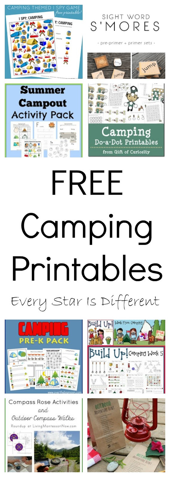 FREE Camping Printables Every Star Is Different