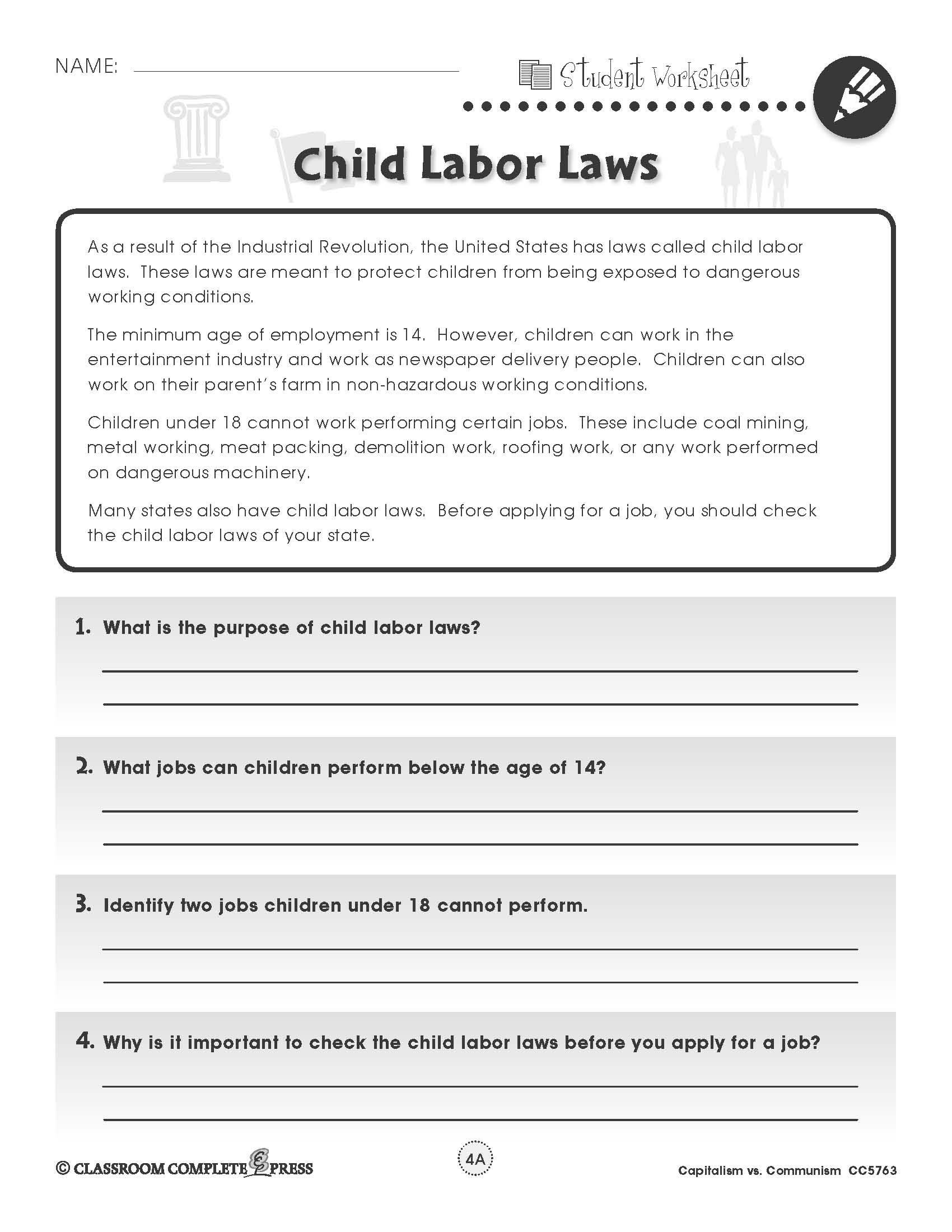 Free Printable Civics Worksheets
