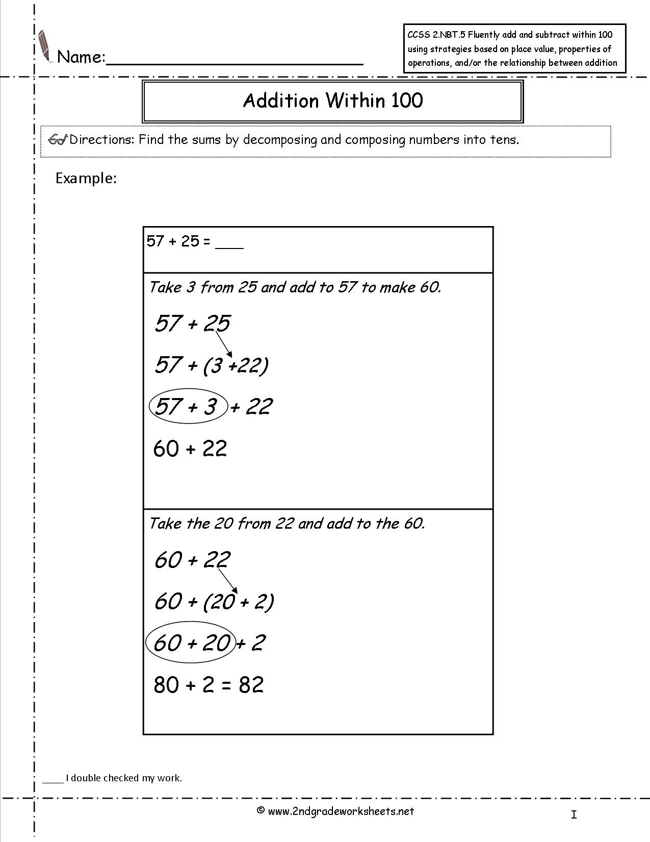 Free Printable Common Core Worksheets
