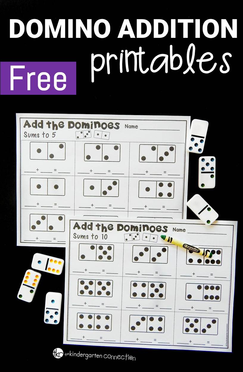 Domino Addition Printables The Kindergarten Connection