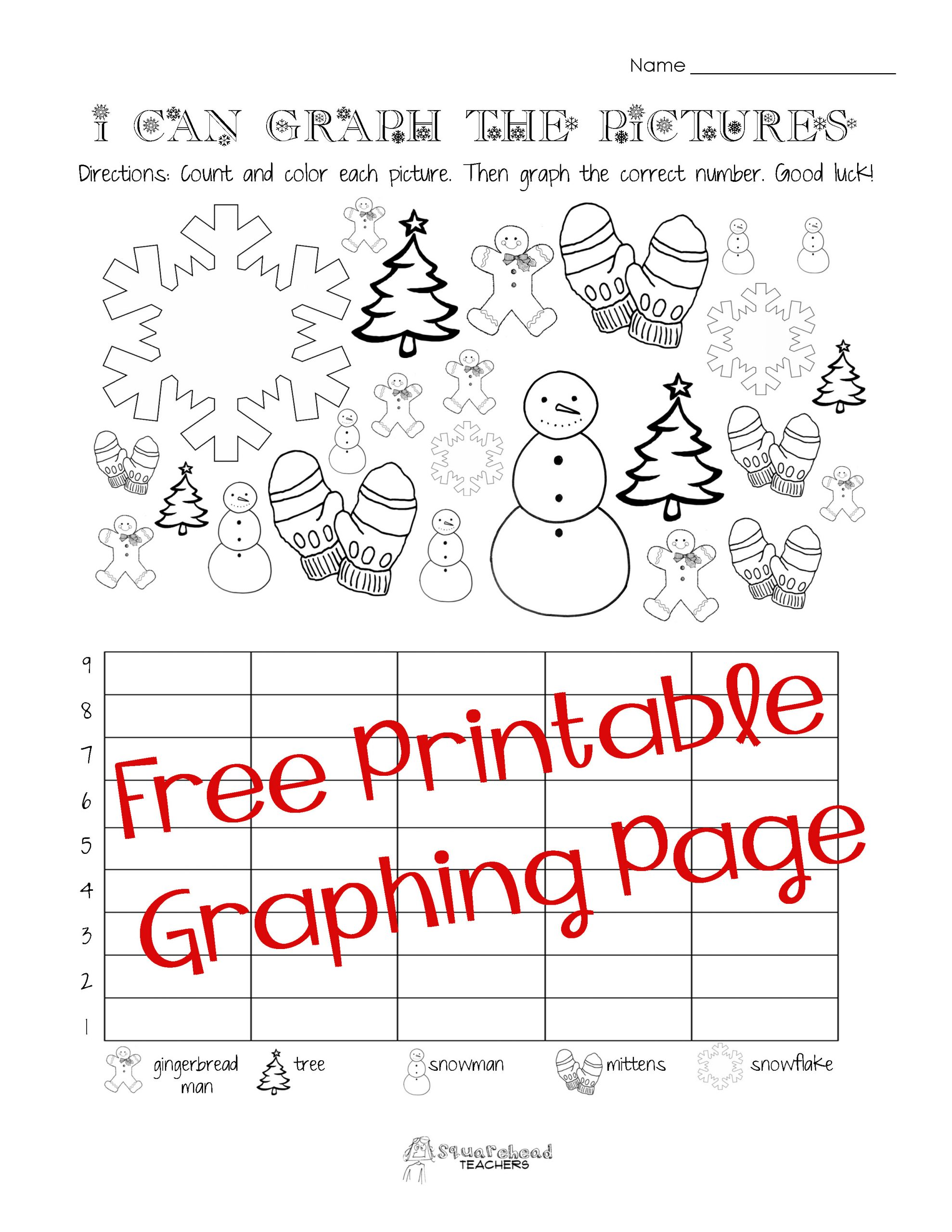 Free Printable Graphing Worksheets