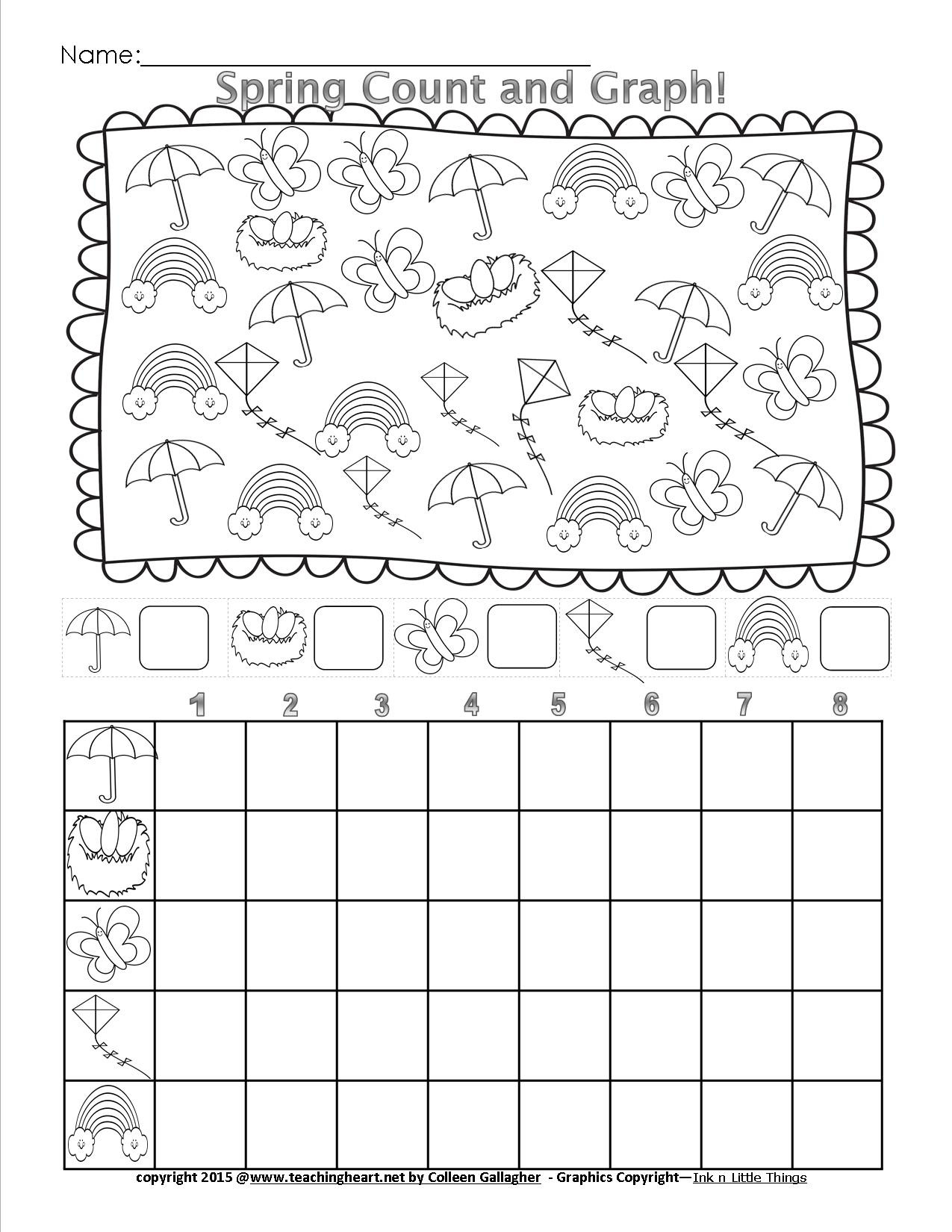 Spring Count and Graph – Free – Teaching Heart Blog