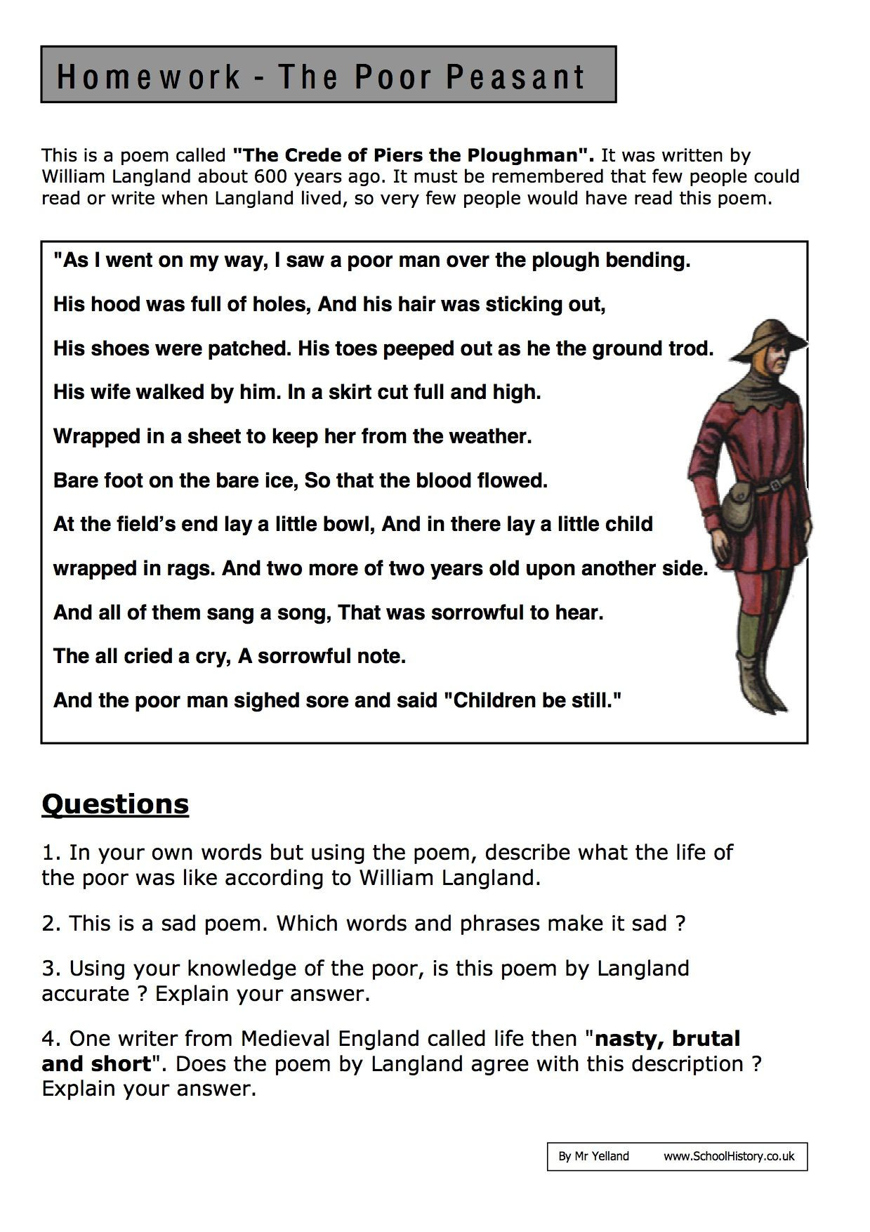 Free Printable History Worksheets