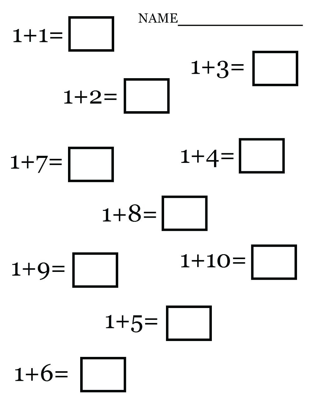 Free Printable Simple Addition Worksheets