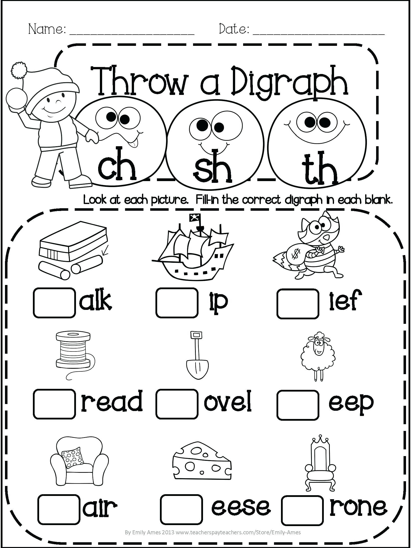 Free Printable Spring Worksheets
