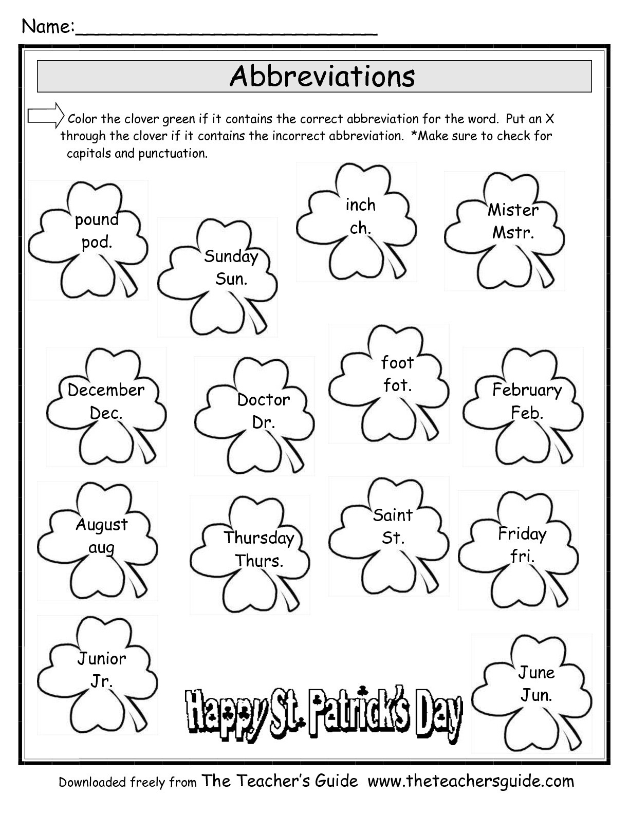 Free Printable Veterans Day Worksheets