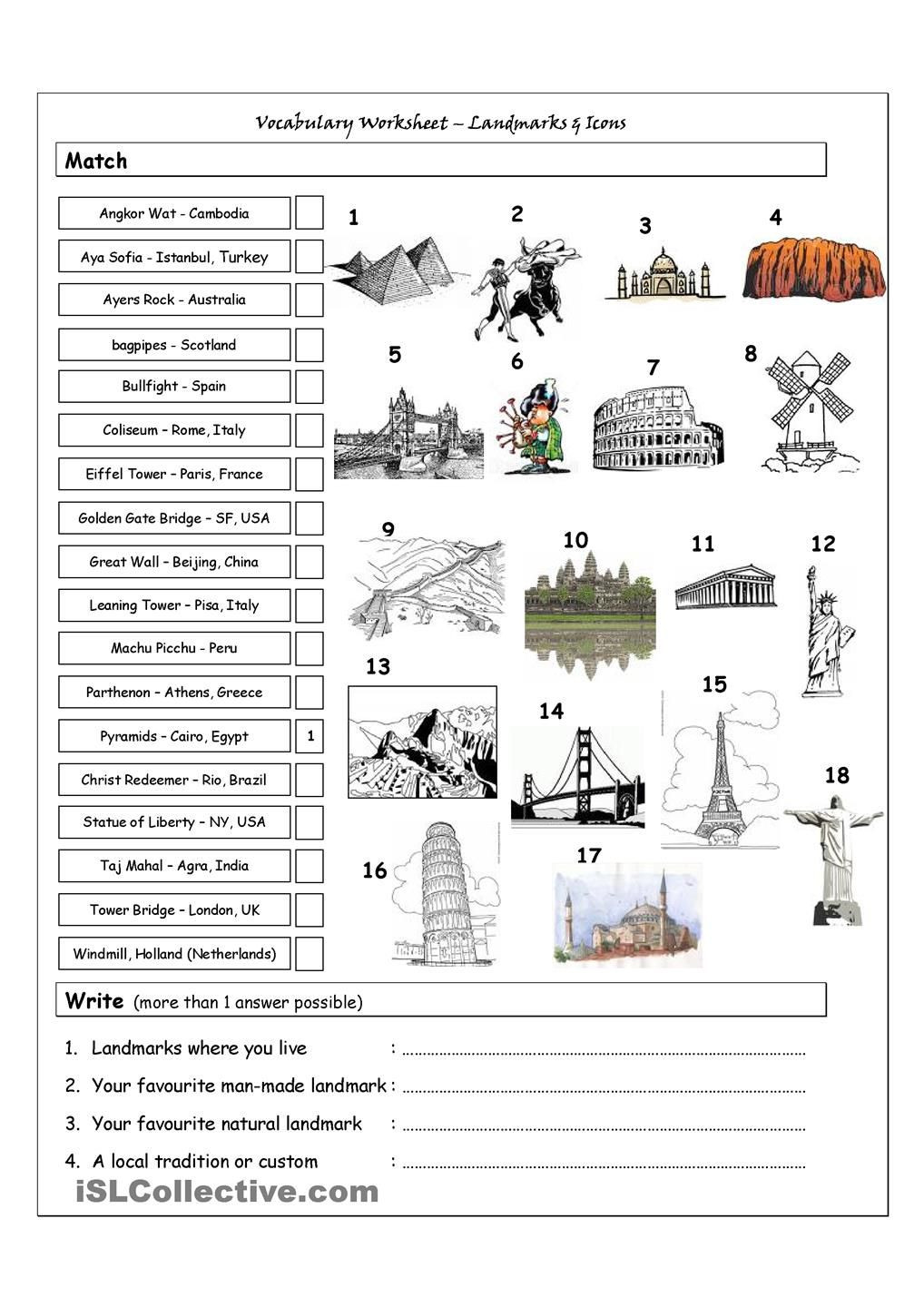 Free Printable World History Worksheets