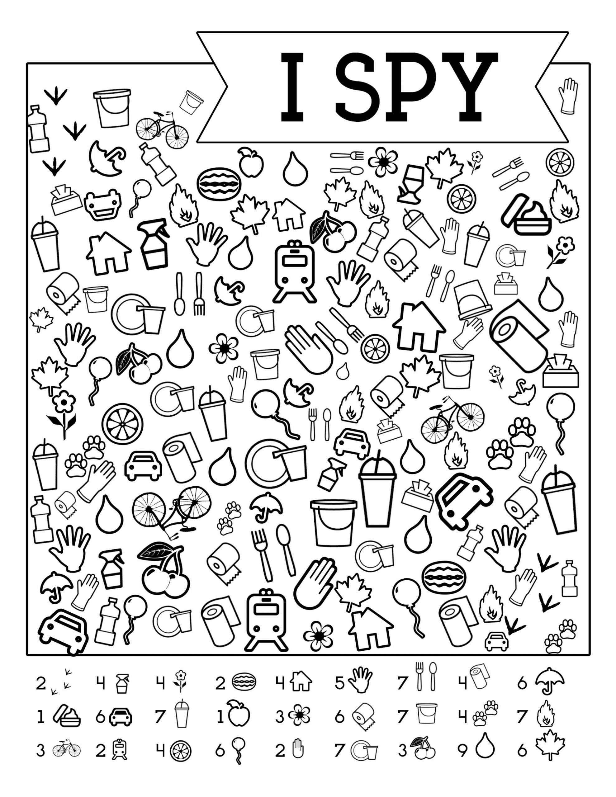 I Spy Worksheets Printable