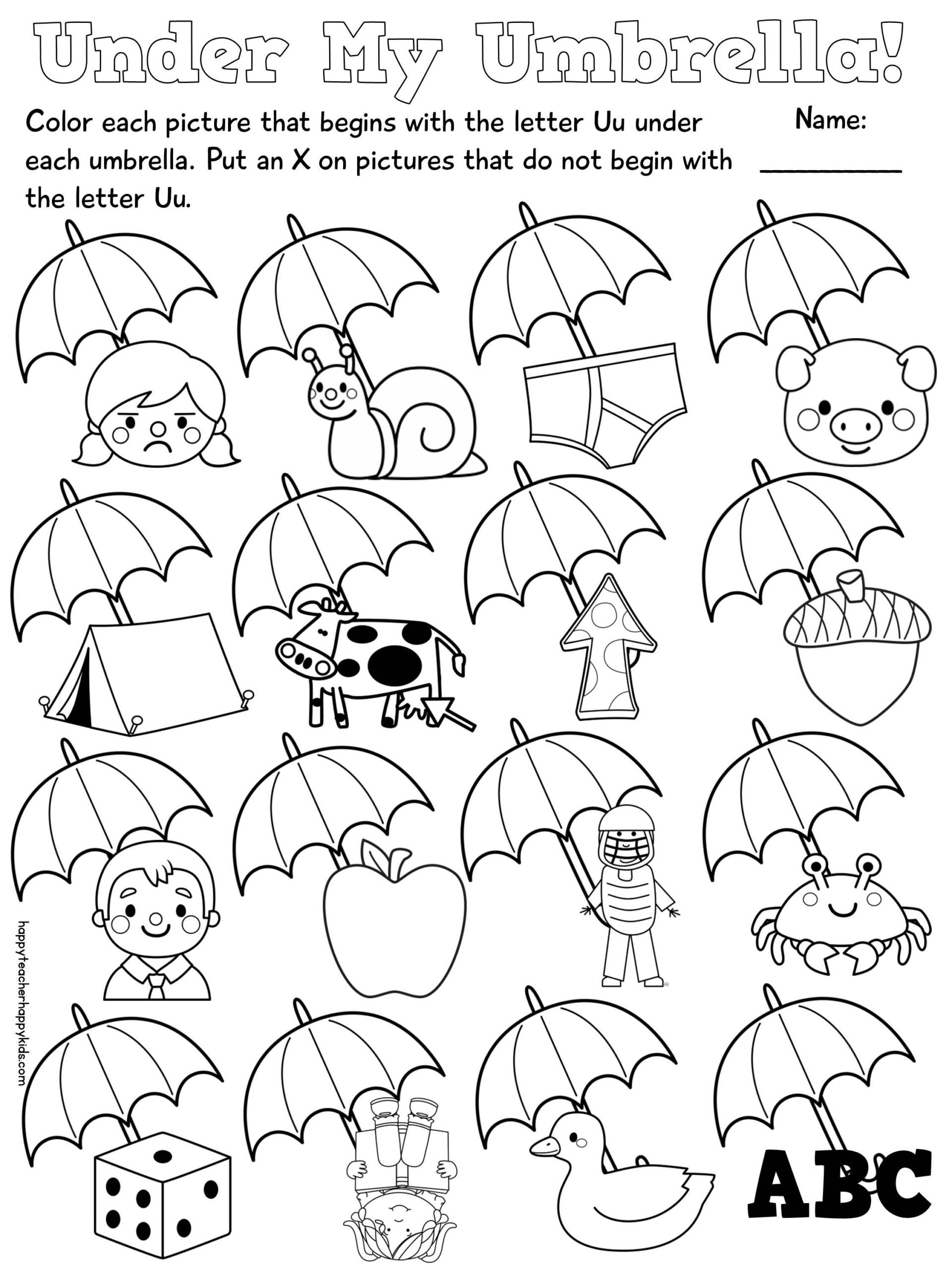 Kindergarten Beginning sound Worksheets