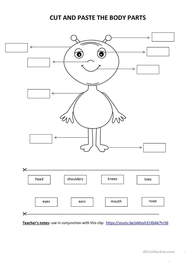Kindergarten Cut and Paste Worksheets