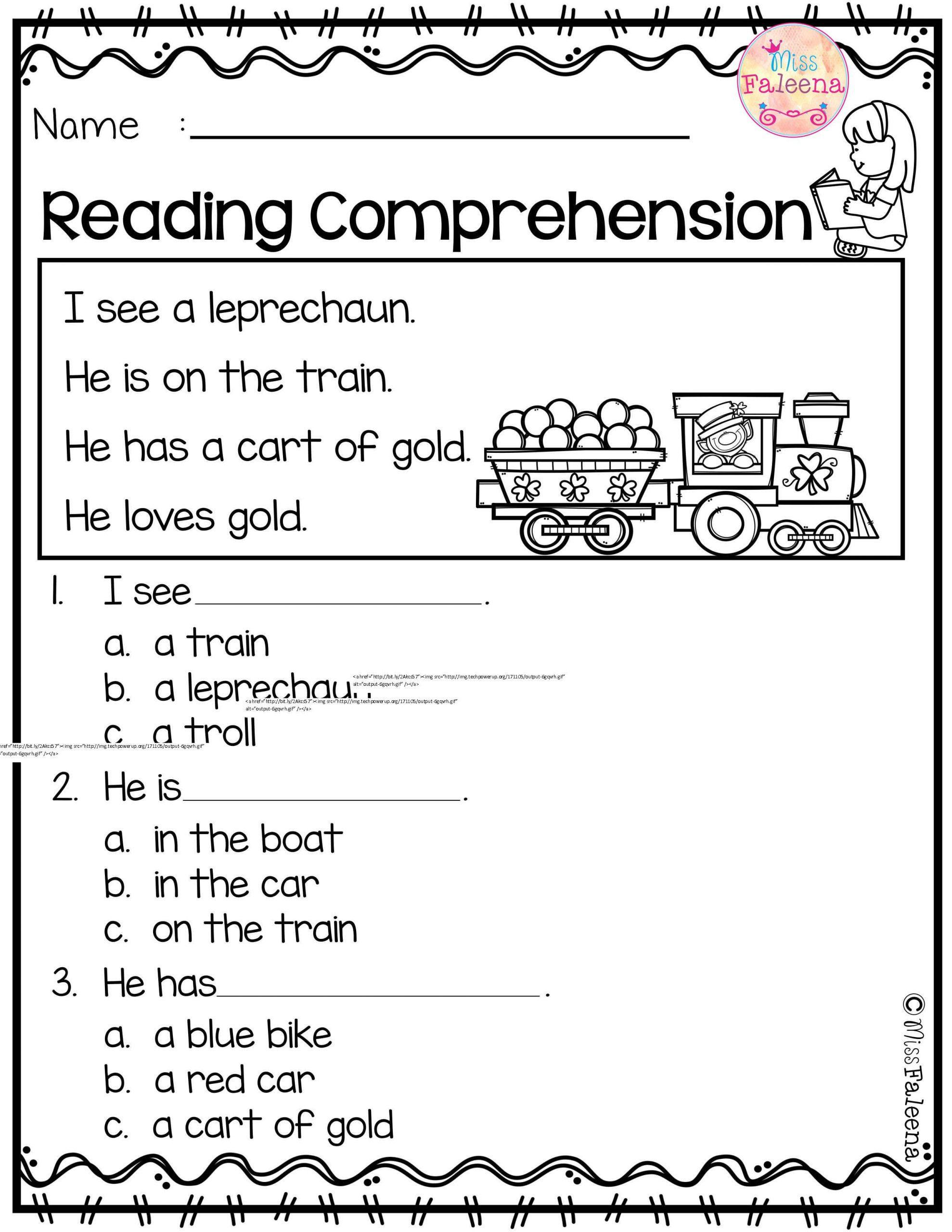 Kindergarten Main Idea Worksheet