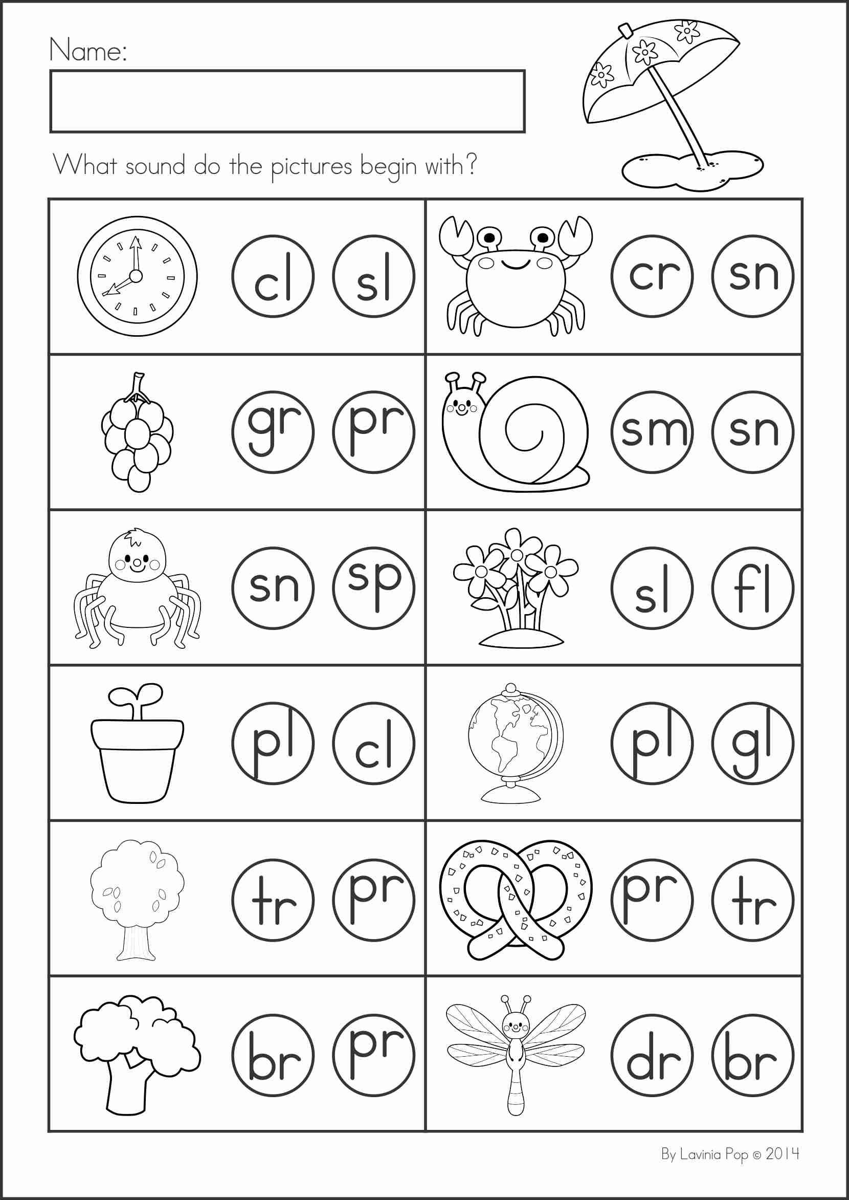 Kindergarten Math Review Worksheets
