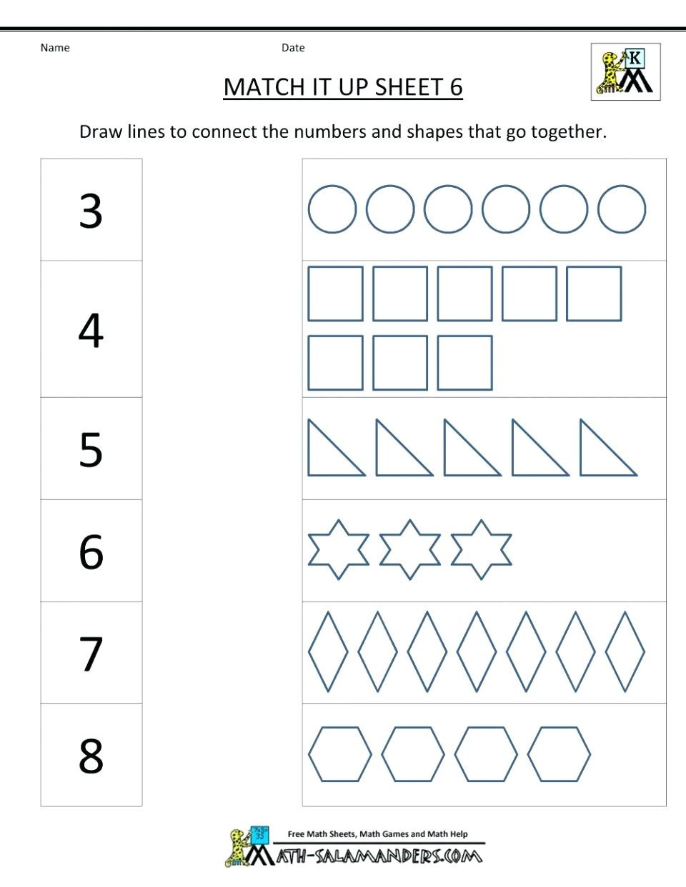 Kindergarten Math Shapes Worksheets