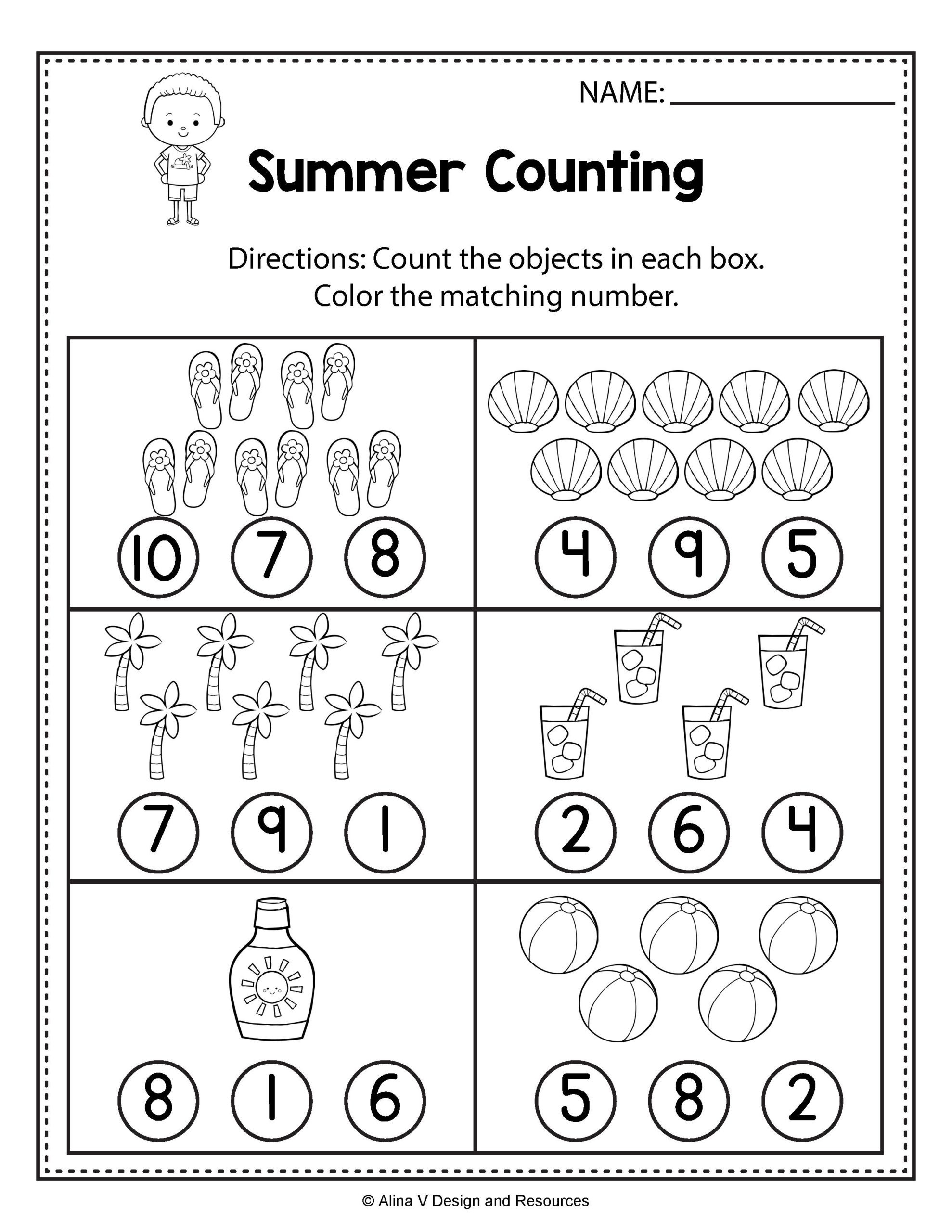 Kindergarten Math Word Problem Worksheets