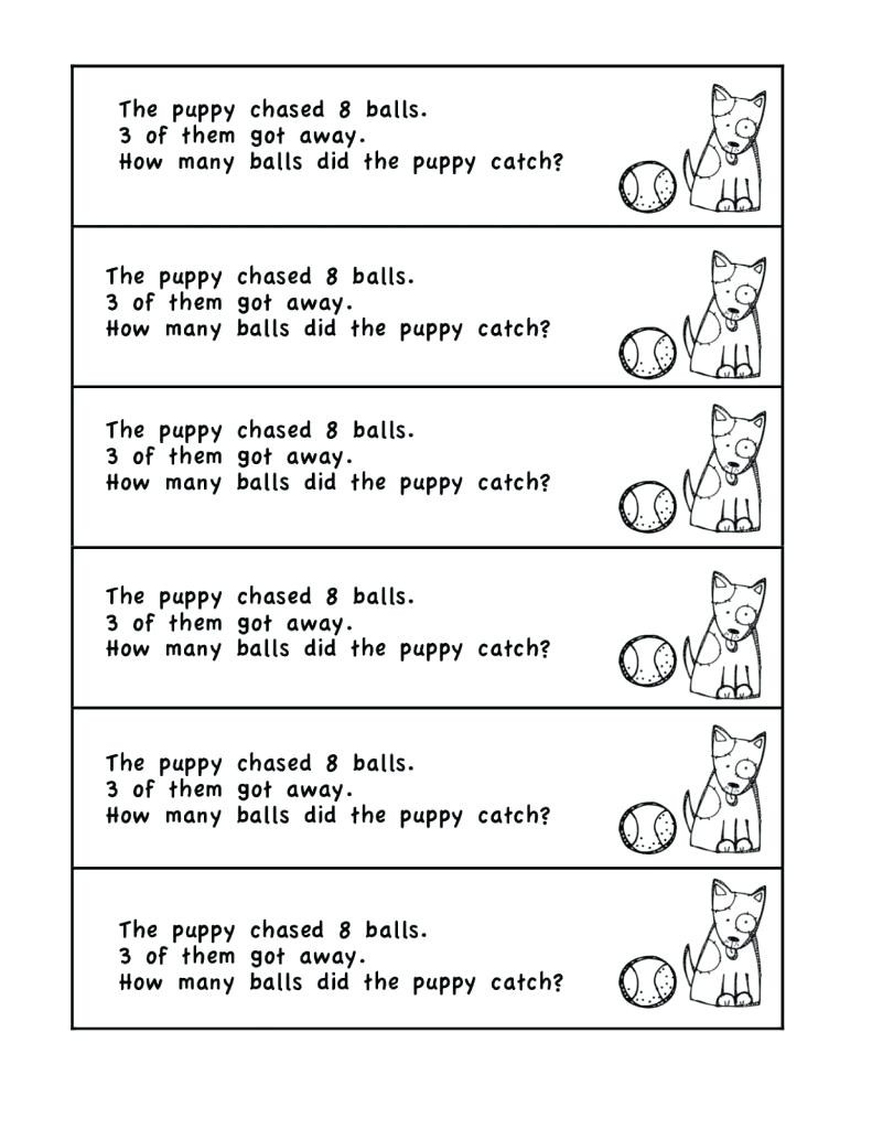 Word Problems Worksheets 1st Grade Grade Math Problems For