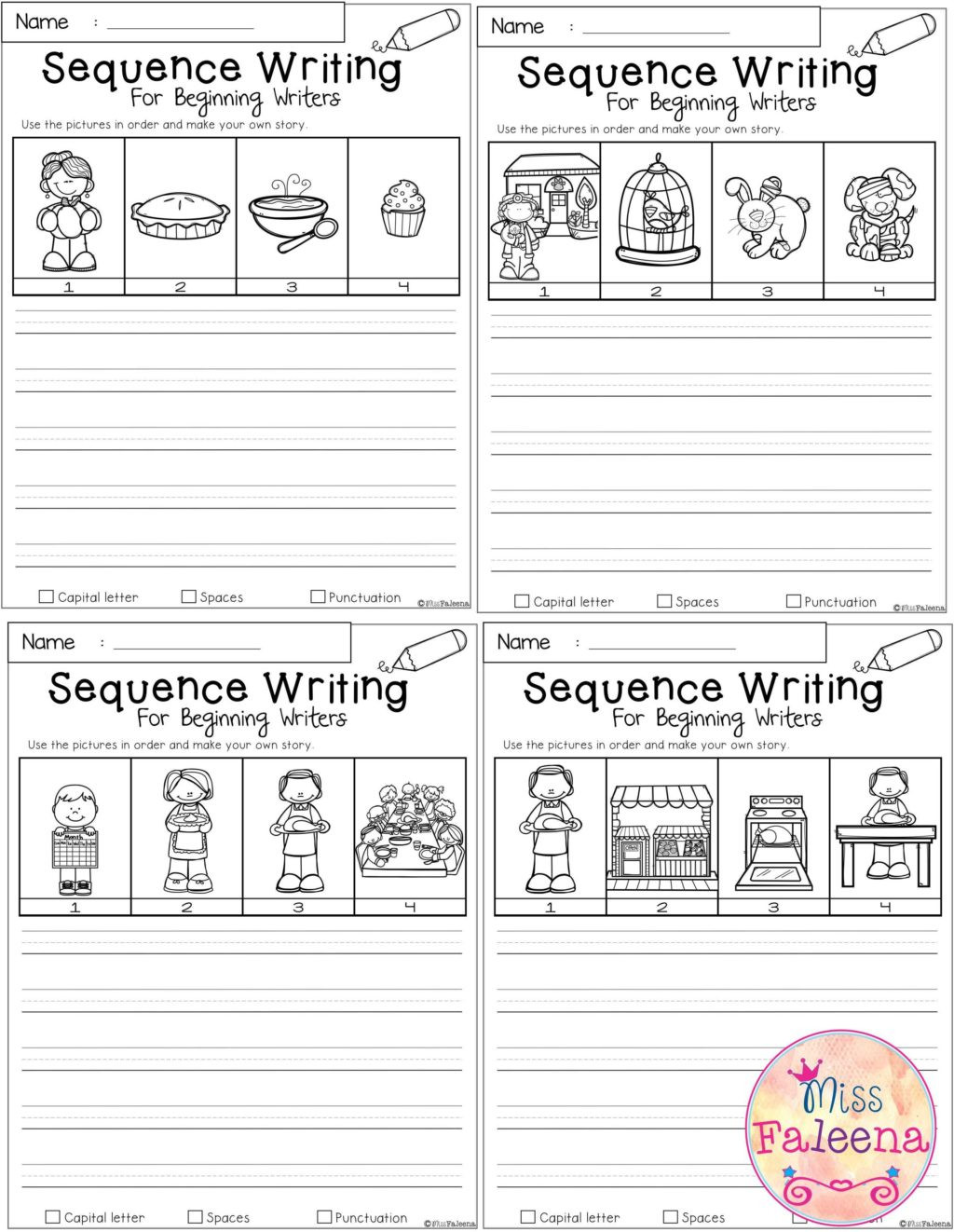 Kindergarten Sequence Worksheets