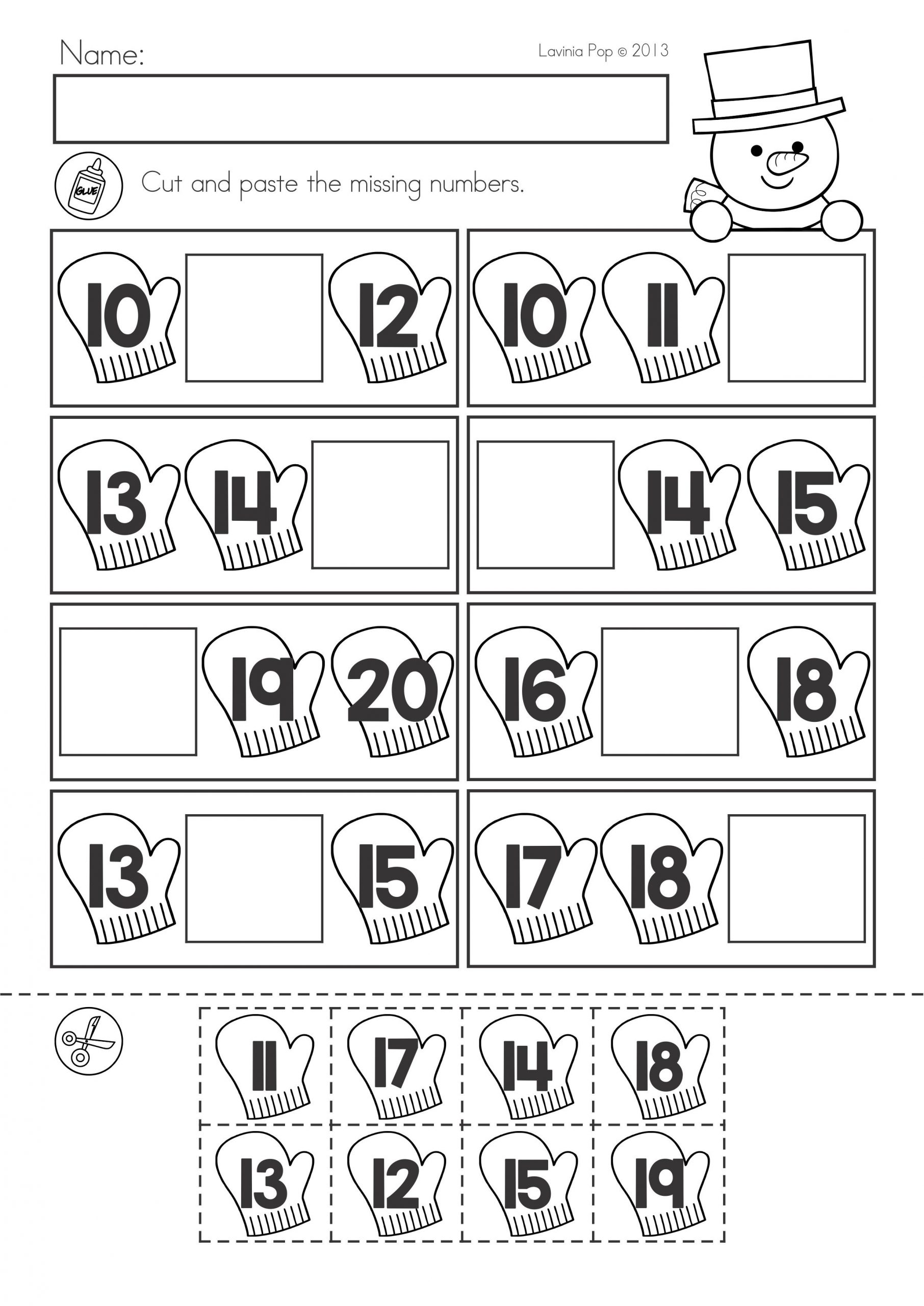 Kindergarten Valentine Math Worksheets