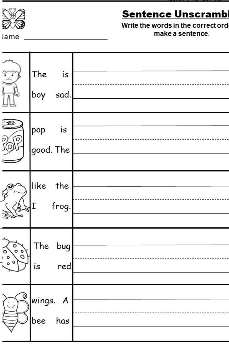 Free Kindergarten Writing Printable
