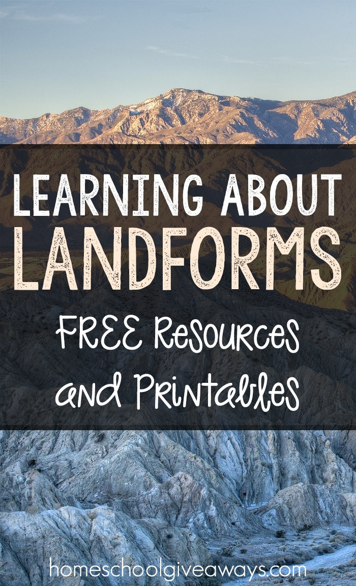 Landforms Worksheet for Kindergarten