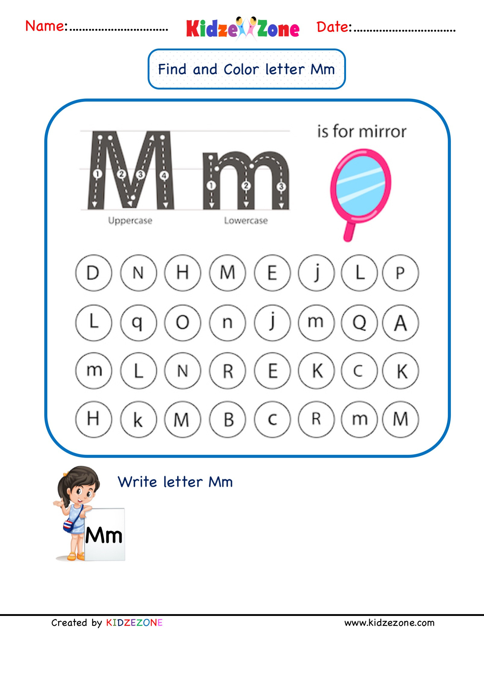 Letter M Worksheet Kindergarten