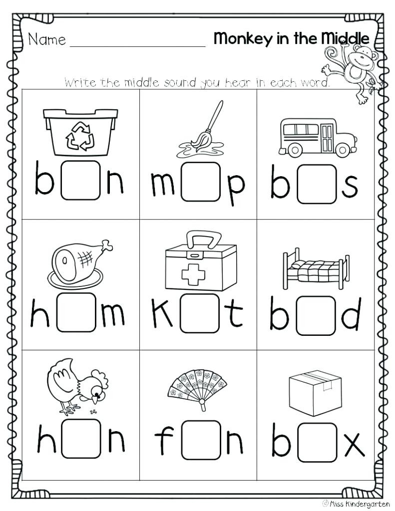 Letter sounds Worksheets Kindergarten