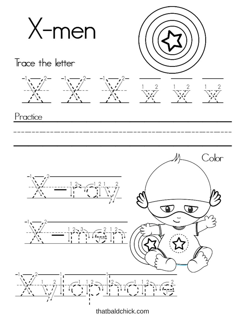 Letter X Worksheets Kindergarten