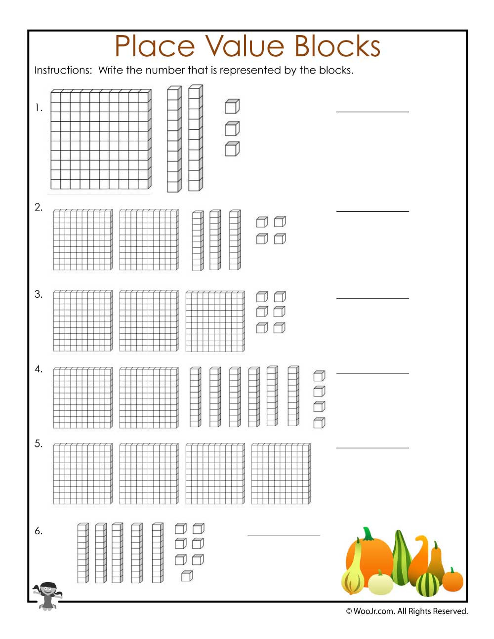 Place Value Printable Worksheets