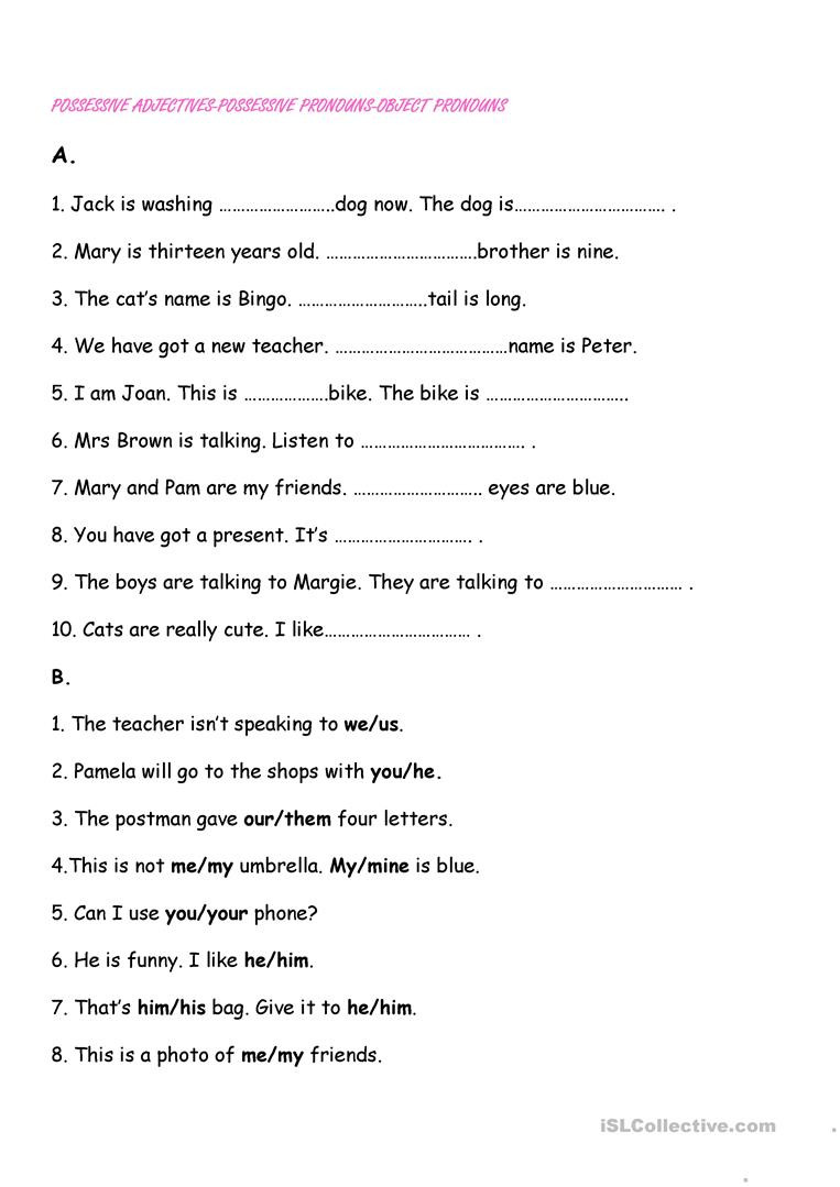 Possessive Nouns Printable Worksheets