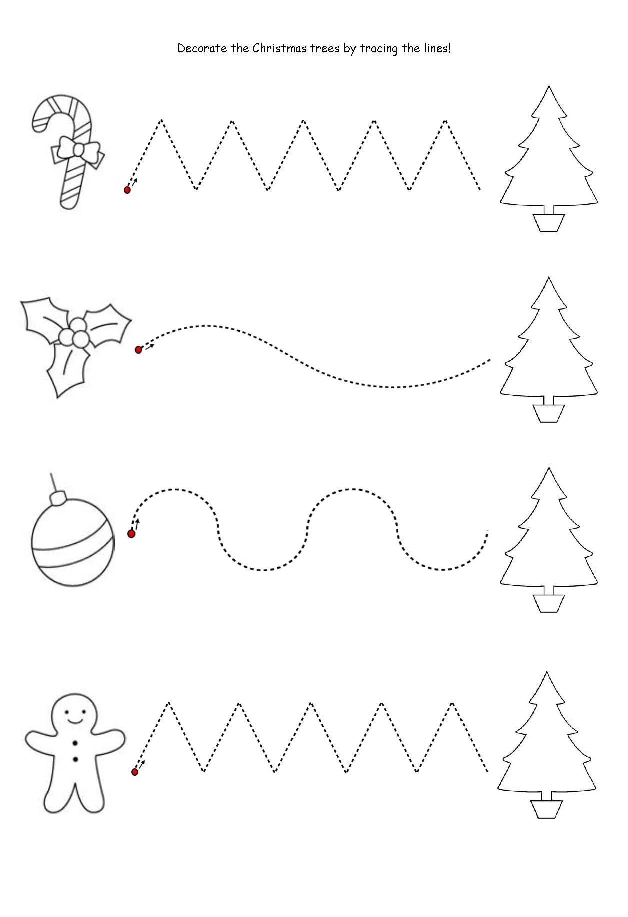 Preschool Christmas Worksheet Printables
