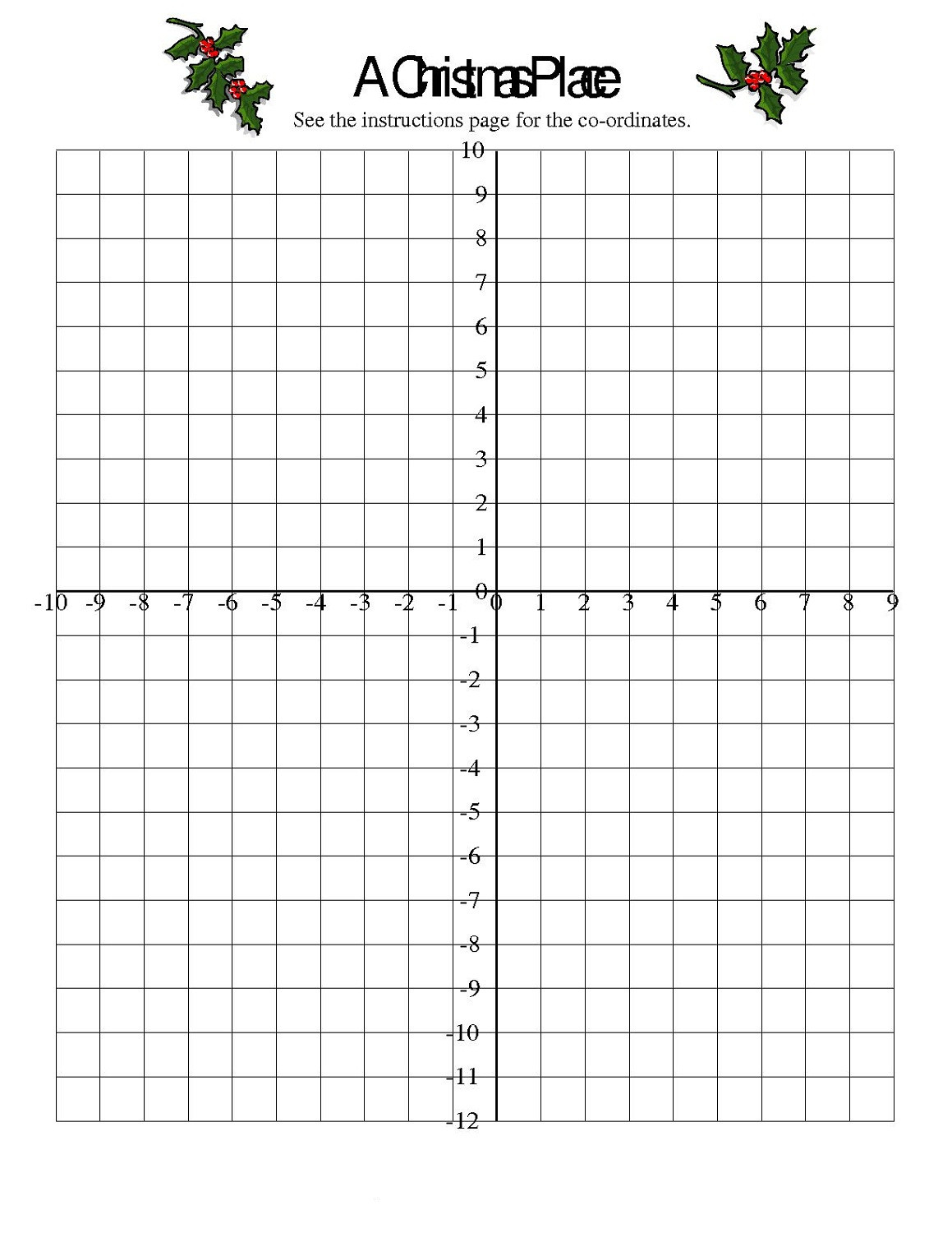 Printable Coordinate Grid Worksheets