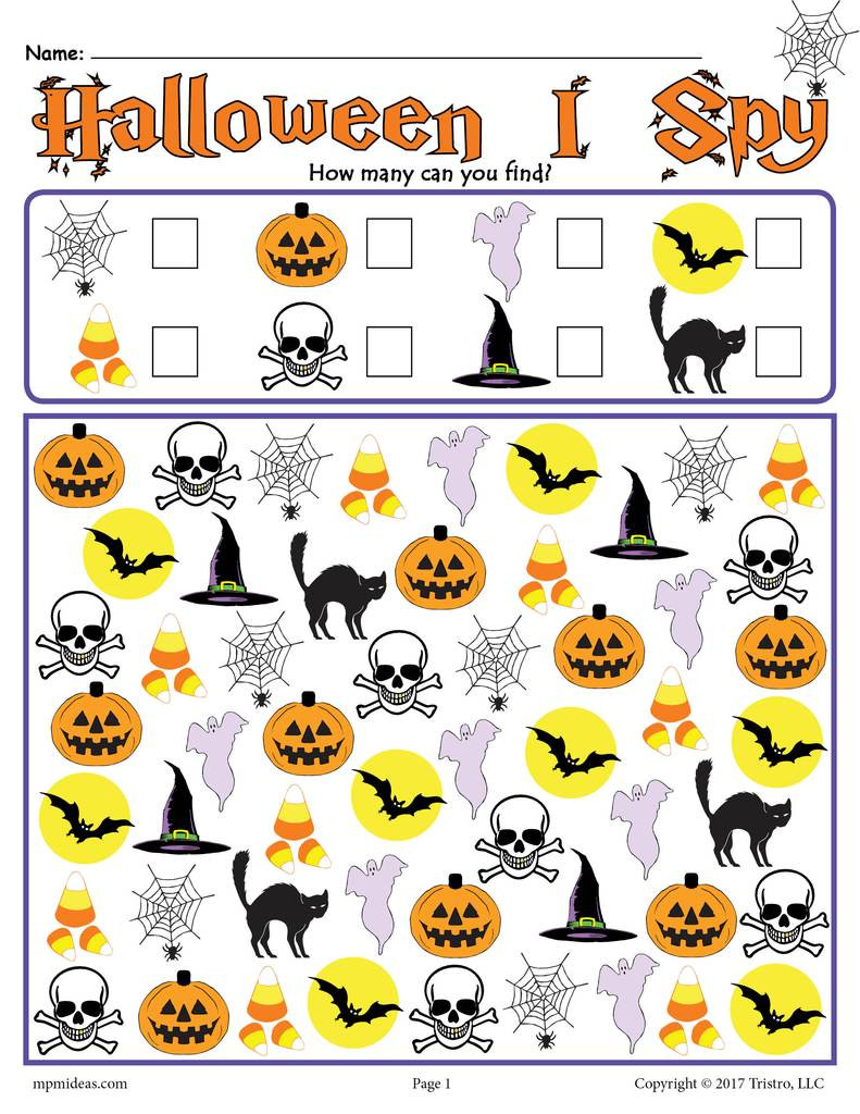 Printable I Spy Worksheets