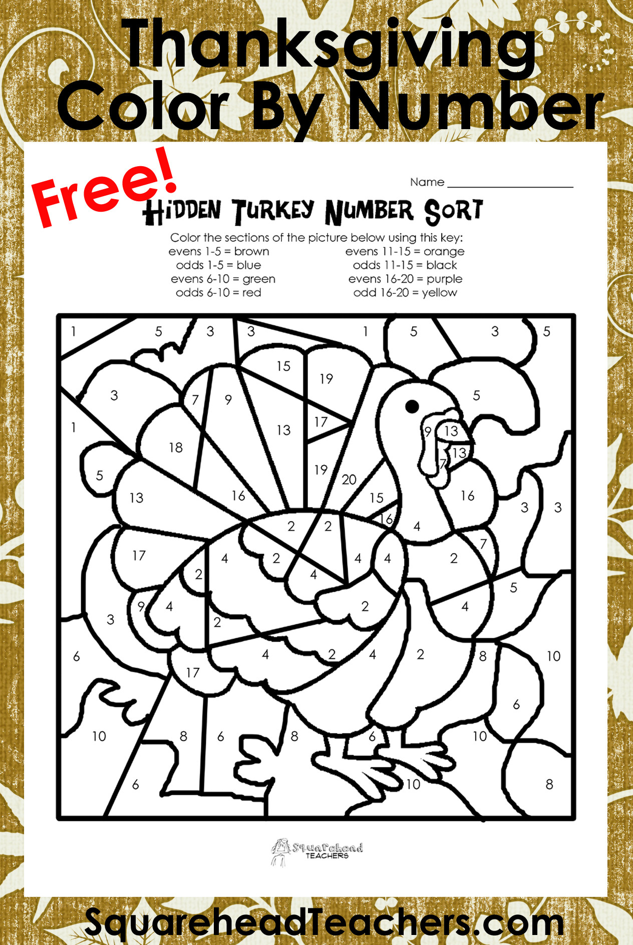 Printable Thanksgiving Math Worksheets