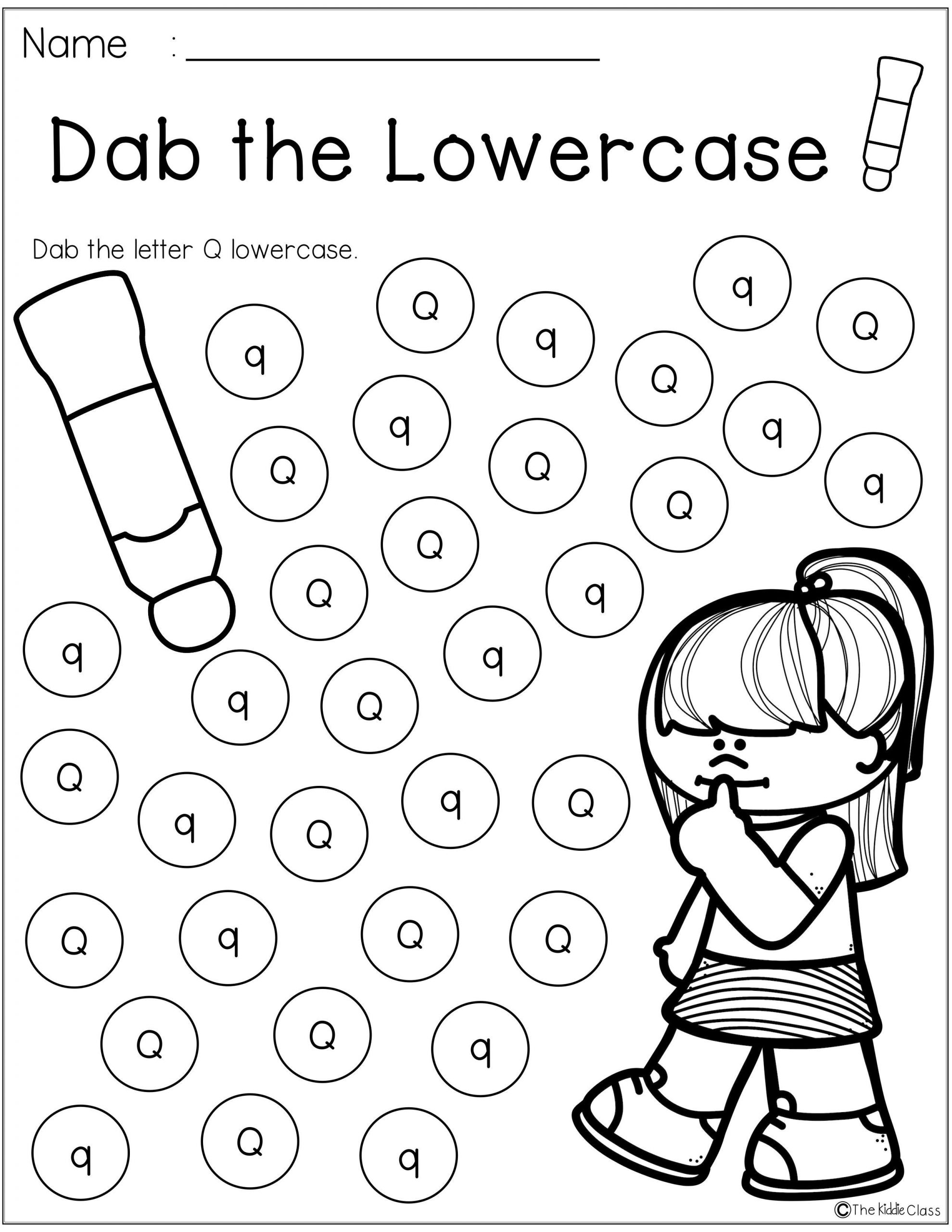 Q Worksheets for Kindergarten