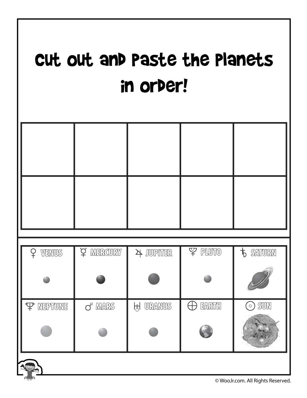 Solar System Printable Worksheets