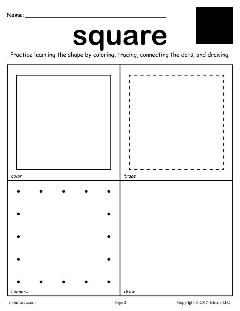 Sorting Shapes Worksheets for Kindergarten