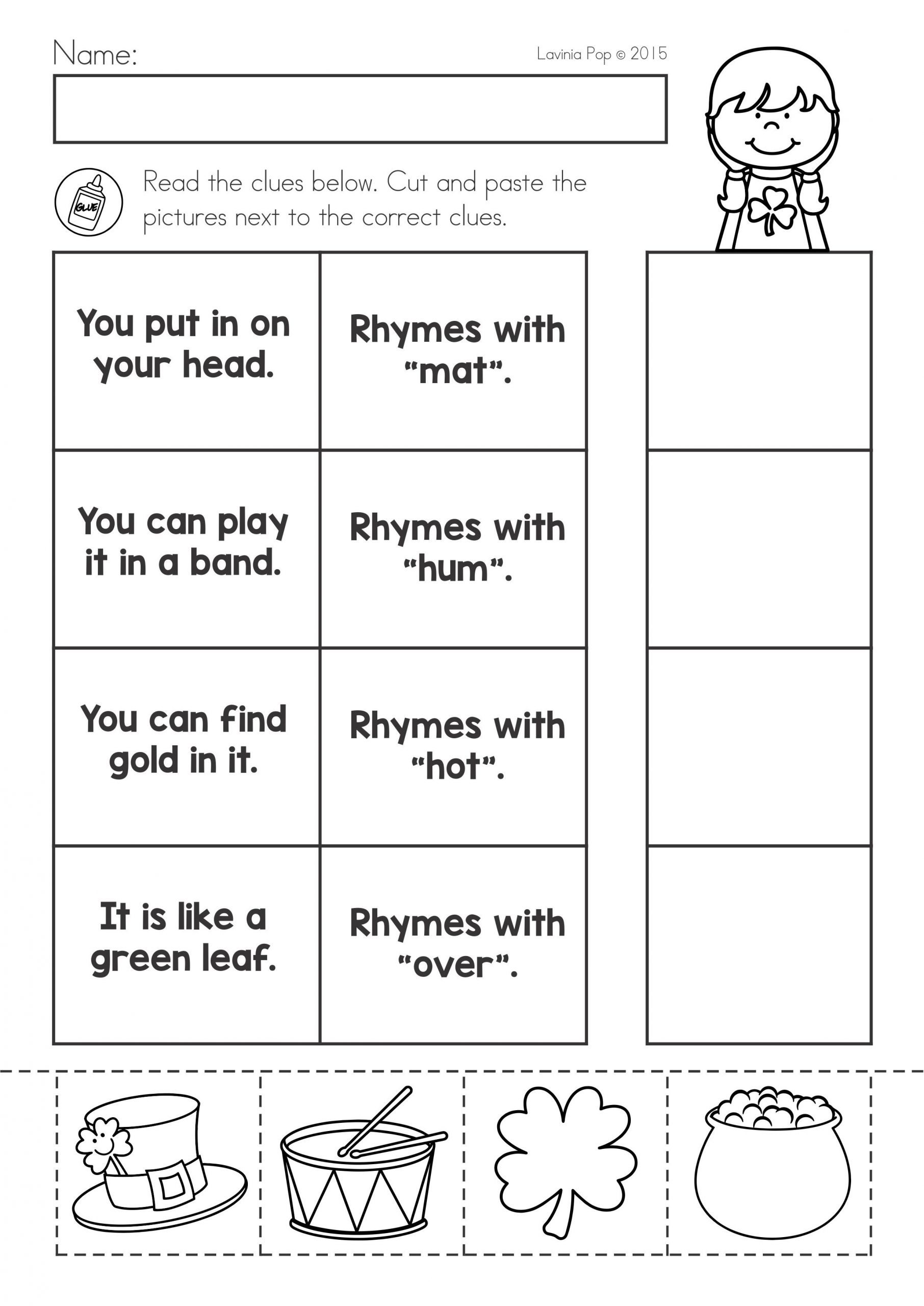 St Patrick Worksheets for Kindergarten