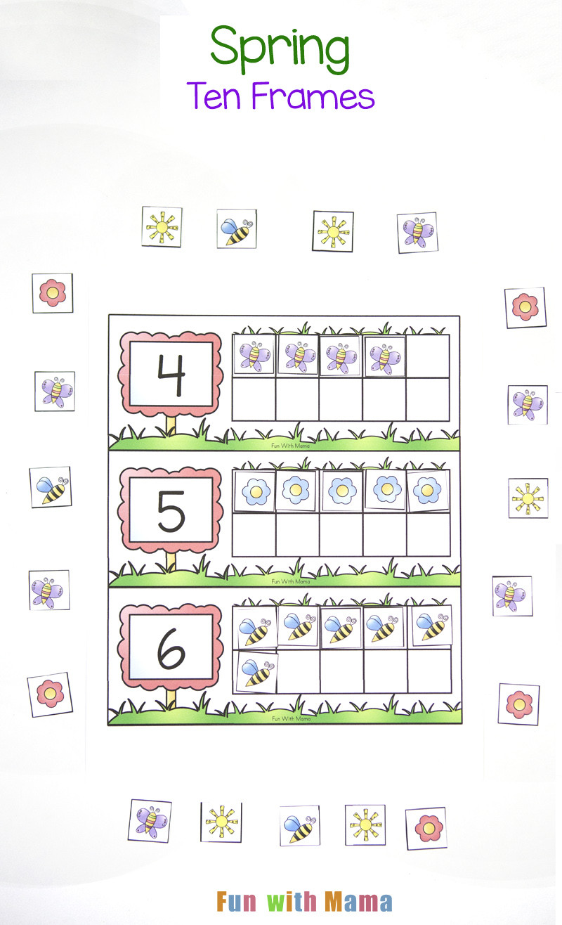 Ten Frame Worksheet for Kindergarten