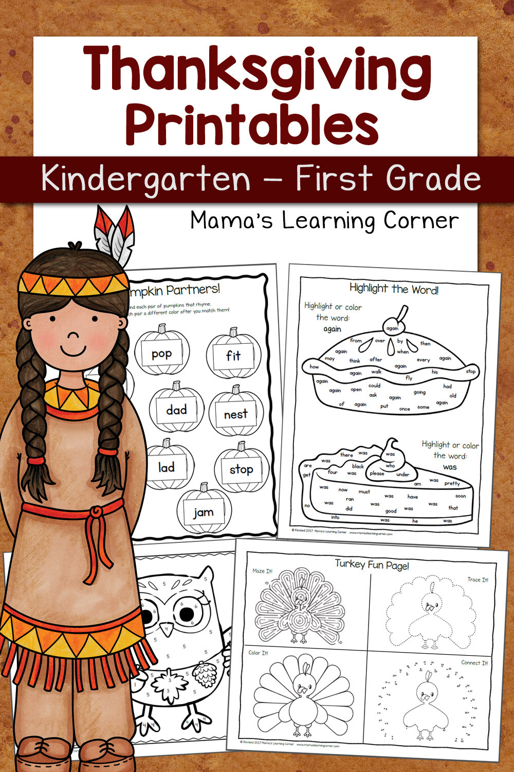Thanksgiving Math Worksheets Kindergarten